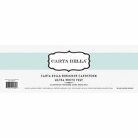 Carta Bella Paper - Bulk Cardstock Pack - 25 Sheets - Felt Texture - Ultra White