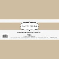 Carta Bella Paper - Bulk Cardstock Pack - 25 Sheets - Kraft