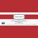 Carta Bella Paper - Bulk Cardstock Pack - 25 Sheets - Linen Texture - Brick Red