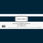 Carta Bella Paper - Bulk Cardstock Pack - 25 Sheets - Linen Texture - Navy Blue