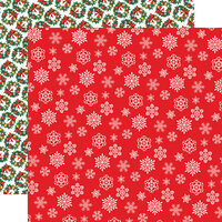 Carta Bella Paper - Dear Santa Collection - 12 x 12 Double Sided Paper - Snowflakes