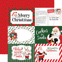 Carta Bella Paper - Dear Santa Collection - 12 x 12 Double Sided Paper - 4 x 6 Journaling Cards