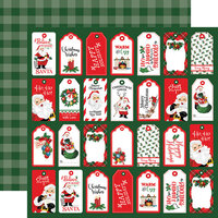 Carta Bella Paper - Dear Santa Collection - 12 x 12 Double Sided Paper - Tags