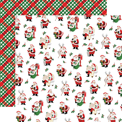 Carta Bella Paper - Dear Santa Collection - 12 x 12 Double Sided Paper - Mail for Santa