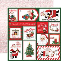 Carta Bella Paper - Dear Santa Collection - 12 x 12 Double Sided Paper - Multi Journaling Cards