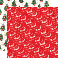 Carta Bella Paper - Dear Santa Collection - 12 x 12 Double Sided Paper - Santa and His Reindeer