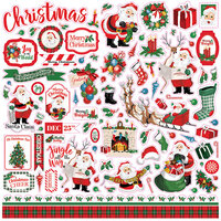 Carta Bella Paper - Dear Santa Collection - 12 x 12 Cardstock Stickers - Elements
