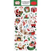 Carta Bella Paper - Dear Santa Collection - Chipboard Stickers - Accents
