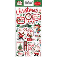 Carta Bella Paper - Dear Santa Collection - Chipboard Stickers - Phrases