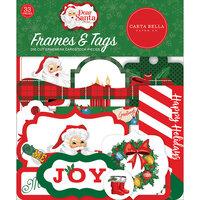 Carta Bella Paper - Dear Santa Collection - Ephemera - Frames and Tags