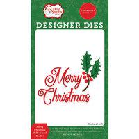 Carta Bella Paper - Dear Santa Collection - Designer Dies - Merry Christmas Holly Branch