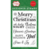 Carta Bella Paper - Dear Santa Collection - Clear Photopolymer Stamps - Merry Christmas Sentiment