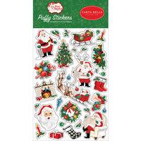 Carta Bella Paper - Dear Santa Collection - Puffy Stickers