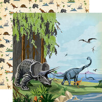 Carta Bella Paper - Dinosaurs Collection - 12 x 12 Double Sided Paper - Prehistoric