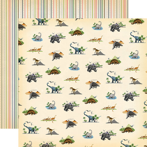 Carta Bella Paper - Dinosaurs Collection - 12 x 12 Double Sided Paper - Wild and Free