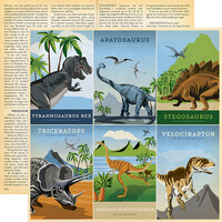 Carta Bella Paper - Dinosaurs Collection - 12 x 12 Double Sided Paper - 4 x 6 Journaling Cards