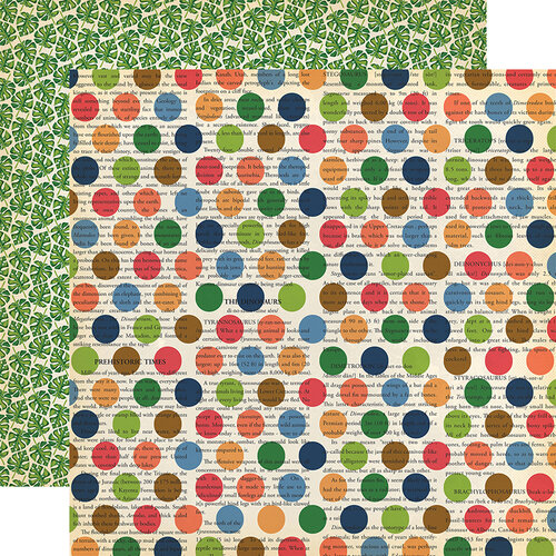 Carta Bella Paper - Dinosaurs Collection - 12 x 12 Double Sided Paper - Dino Dot