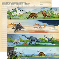 Carta Bella Paper - Dinosaurs Collection - 12 x 12 Double Sided Paper - Border Strips