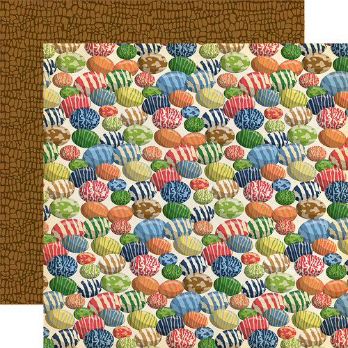 Carta Bella Paper - Dinosaurs Collection - 12 x 12 Double Sided Paper - Dinosaur Eggs