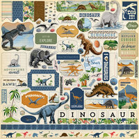 Carta Bella Paper - Dinosaurs Collection - 12 x 12 Cardstock Stickers - Elements