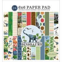 Carta Bella Paper - Dinosaurs Collection - 6 x 6 Paper Pad