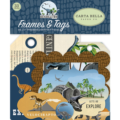 Carta Bella Paper - Dinosaurs Collection - Ephemera - Frames and Tags