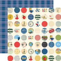 Carta Bella Paper - School Days Collection - 12 x 12 Double Sided Paper - School Circles