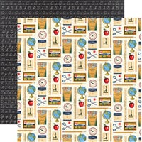 Carta Bella Paper - School Days Collection - 12 x 12 Double Sided Paper - Desk Supplies