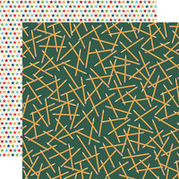 Carta Bella Paper - School Days Collection - 12 x 12 Double Sided Paper - Scattered Pencils
