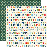 Carta Bella Paper - School Days Collection - 12 x 12 Double Sided Paper - Alphabet