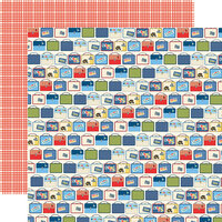 Carta Bella Paper - School Days Collection - 12 x 12 Double Sided Paper - Lunch Boxes