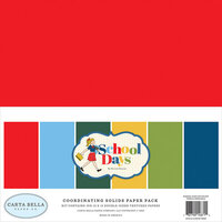 Carta Bella Paper - School Days Collection - 12 x 12 Paper Pack - Solids