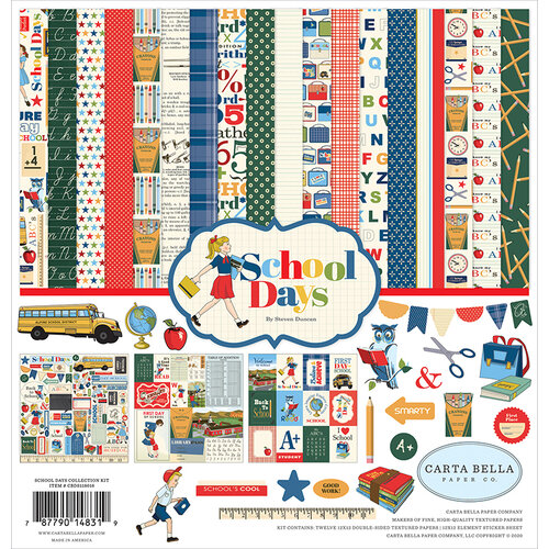 Carta Bella Paper - School Days Collection - 12 x 12 Collection Kit