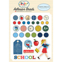 Carta Bella Paper - School Days Collection - Self Adhesive Decorative Brads