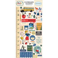 Carta Bella Paper - School Days Collection - Chipboard Stickers - Accents