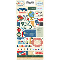 Carta Bella Paper - School Days Collection - Chipboard Stickers - Phrases