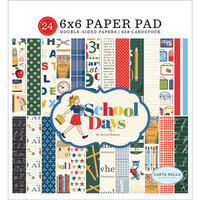 Carta Bella Paper - School Days Collection - 6 x 6 Paper Pad