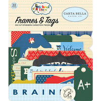 Carta Bella Paper - School Days Collection - Ephemera - Frames and Tags