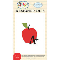 Carta Bella Paper - School Days Collection - Decorative Dies - A Apple