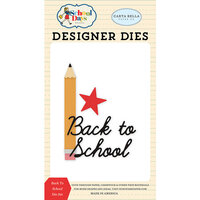 Carta Bella Paper - School Days Collection - Decorative Dies - Back To School