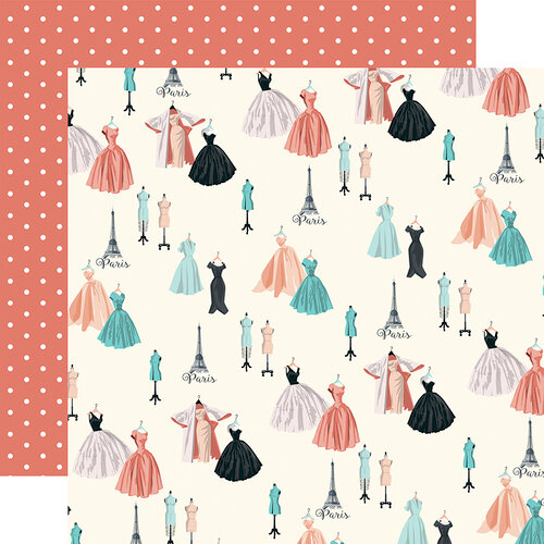 Carta Bella Paper - En Vogue Collection - 12 x 12 Double Sided Paper - Dress Shop1