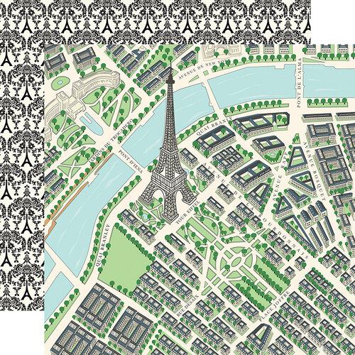 Carta Bella Paper - En Vogue Collection - 12 x 12 Double Sided Paper - Map of Paris