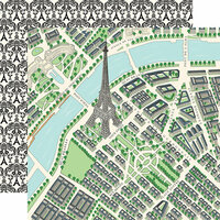 Carta Bella Paper - En Vogue Collection - 12 x 12 Double Sided Paper - Map of Paris