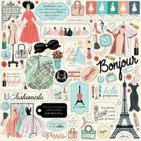 Carta Bella Paper - En Vogue Collection - 12 x 12 Cardstock Stickers - Element