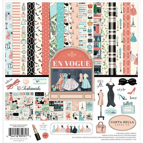Carta Bella Paper - En Vogue Collection - 12 x 12 Collection Kit