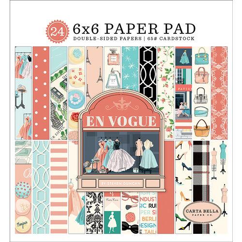 Carta Bella Paper - En Vogue Collection - 6 x 6 Paper Pad