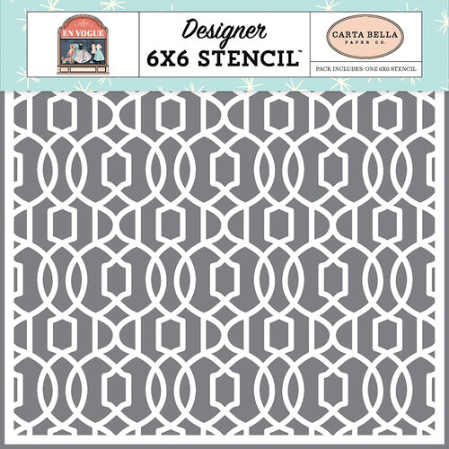 Carta Bella Paper - En Vogue Collection - 6 x 6 Stencil - Classy and Fabulous