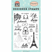 Carta Bella Paper - En Vogue Collection - Clear Photopolymer Stamps - Fashionista