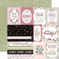 Carta Bella Paper - Flora No. 3 Collection - 12 x 12 Double Sided Paper - Elegant Journaling Cards