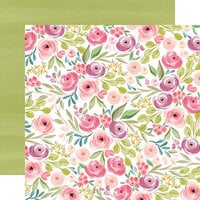 Carta Bella Paper - Flora No. 3 Collection - 12 x 12 Double Sided Paper - Bright Large Floral